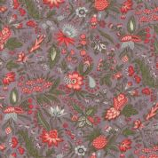 Moda Quill by 3 Sisters - 5605 - Flourish, Coral Floral on Plum - 44153 17 - Cotton Fabric